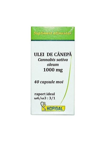 Ulei de canepa 1000 mg 40...