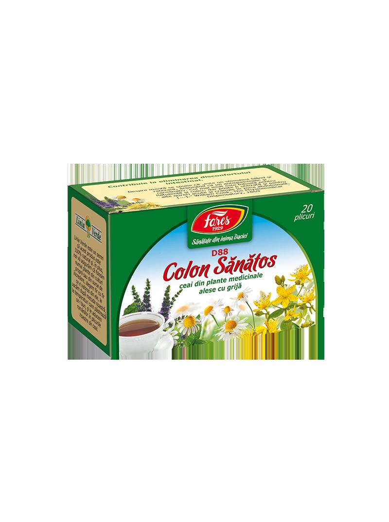 Ceai Colon Sanatos, D88, 20 plicuri, Fares - Farmacia Helena