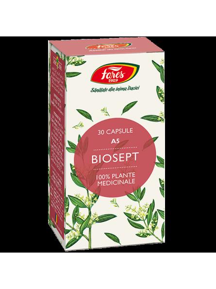 Biosept A5 30 capsule Fares
