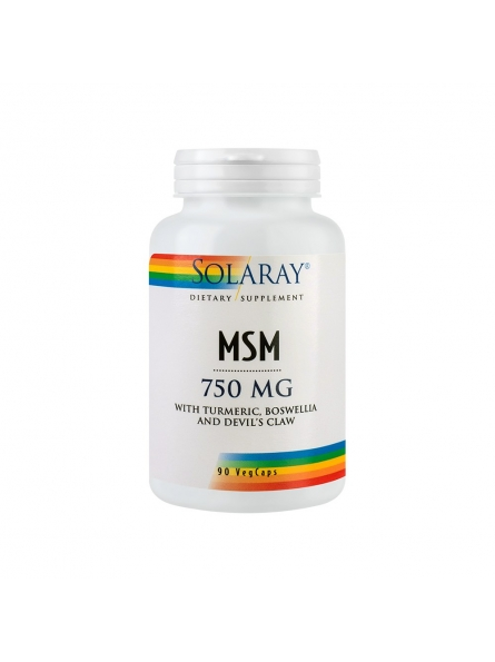 MSM 750mg 90 capsule Solaray